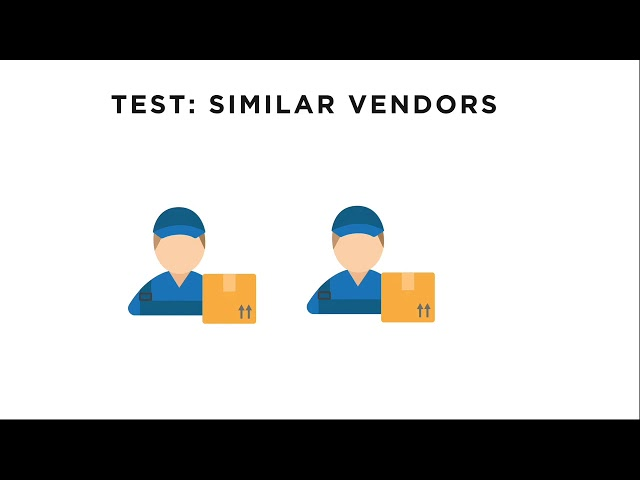 Similar Vendors Test Employee Fraud